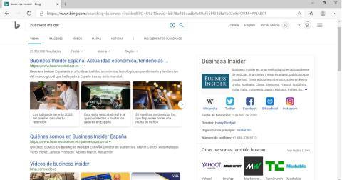Bing en Microsoft Edge Chromium