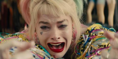 "Margot Robbie como Harley Quinn en ""Aves de presa""."