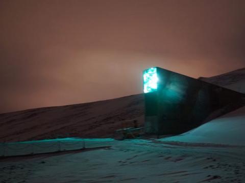 La Bóveda Global de Semillas de Svalbard se adentra 900 metros dentro de una montaña cerca de Longyearbyen y alberga más de un millón de semillas diferentes. También parece que sería una guarida espectacular para un villano de Bond.
