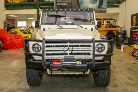 The build that can be dropped from a helicopter is the 1991 Mercedes-Benz 250GD Wolf, pictured below.