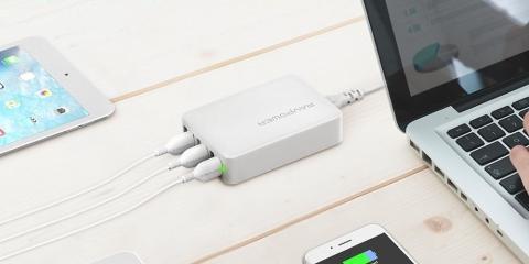 Un cargador de pared USB universal que se adapta a 6 dispositivos