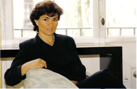 Carmen Calvo en los años 90.