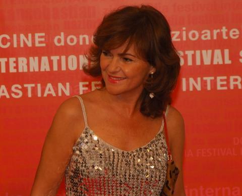 Carmen Calvo, como ministra de Cultura, en 2005 en el Festival de Cine de San Sebastián.
