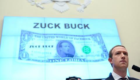 El CEO de Facebook, Mark Zuckerberg, testifica sobre Libra en el Capitolio.
