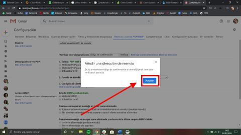 Cómo combinar dos cuentas de correo en Gmail