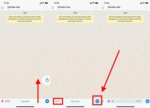 Cómoescuchar los audios de WhatsApp antes de enviarlos