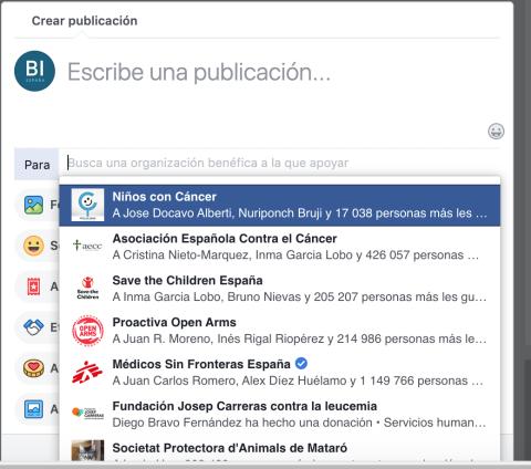 Cómo funcionan las recaudaciones de fondos en Facebook