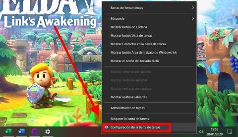 Cómo ocultar la barra de tareas de Windows 10