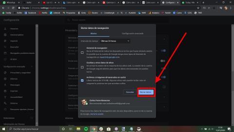 Cómo optimizar Chrome Chrome al máximo borrando los archivos temporales