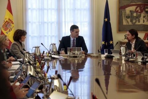 Primer Consejo de Ministros de la XIV legislatura.
