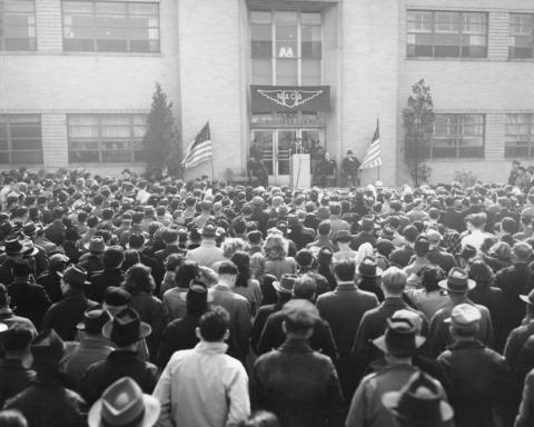 Dwight Eisenhower, who was the army's chief of staff at the time, visited the AERL in 1946.