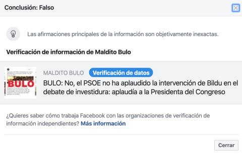 Explicación del veto de Facebook al vídeo de Santiago Abascal.