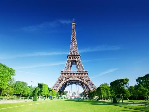 La Torre Eiffel en Paris.