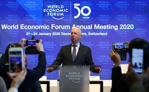 El fundador y presidente del Foro Económico Mundial, Klaus Schwab