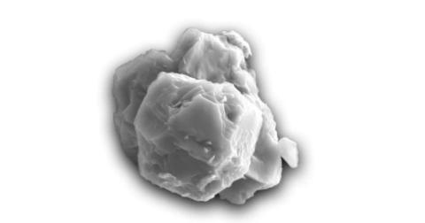 Grano presolar encontrado en el meteorito Murchison.