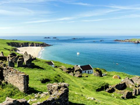 Great Blasket Island se encuentra frente a la costa occidental de Irlanda.
