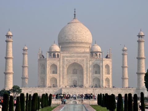 El Taj Mahal en Agra, India.