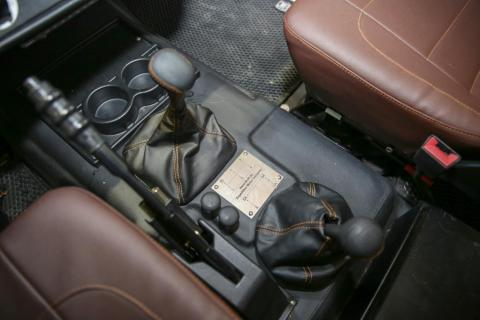 The interior of the G-Wagen is custom-made, although it still retains some of its original components.