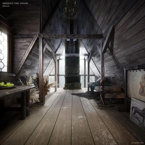Inside Merida's house.