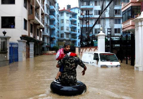Inundaciones en Katmandú, Nepal