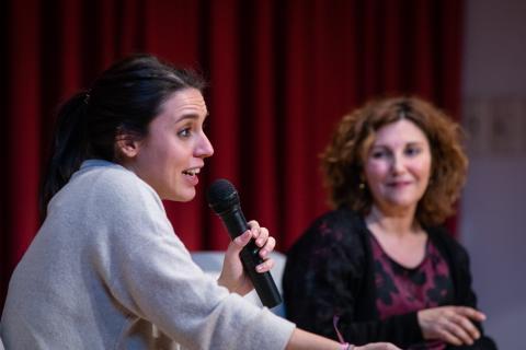 Irene Montero, en un acto de Podemos.