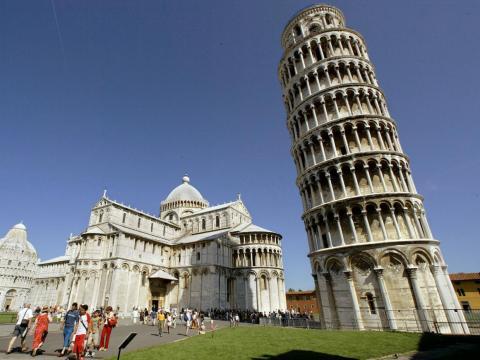 La torre de Pisa en Italia.
