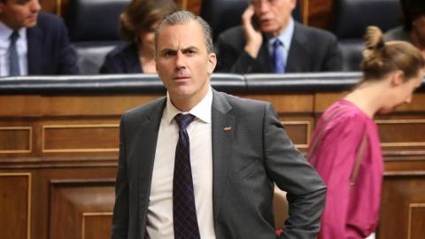 Javier Ortega Smith (Vox) en el Congreso de los Diputados.