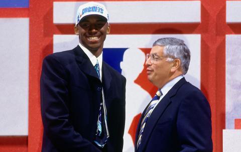 Kobe Bryant en el draft de la NBA