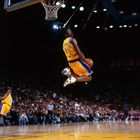 Kobe Bryant, durante su primera temporada como profesional.