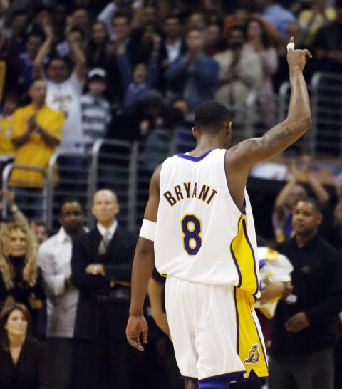 Kobe Bryant tras marcar 81 puntos en un solo partido.