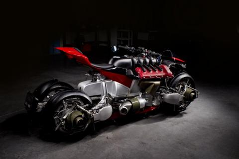 Lazareth only made five of this limited edition motorcycle.