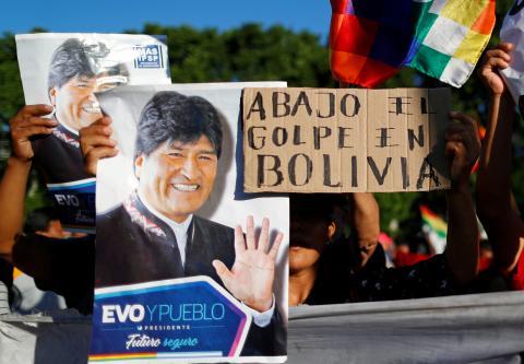 Manifestación de apoyo a Evo Morales en Buenos Aires