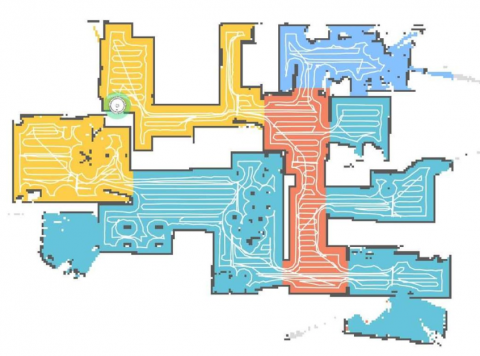 Mapa creado por un robot doméstico de limpieza.