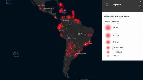 Mapa inversiones china Latinoamérica