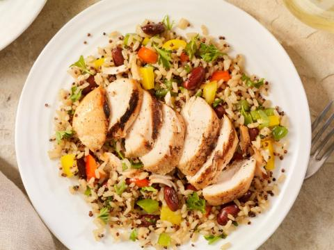 You'll be eating skinless chicken breasts, not crispy chicken wings, on this plan.