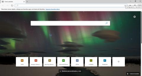 Página inicial de Microsoft Edge Chromium