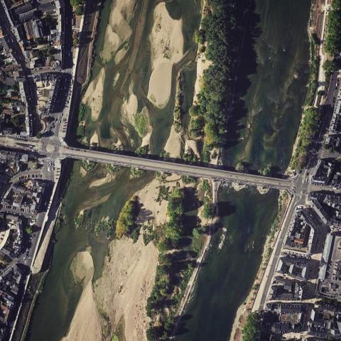 Orleans City Bridge in France.