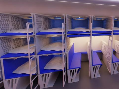 Other concepts, however, look more like a hostel or capsule hotels.