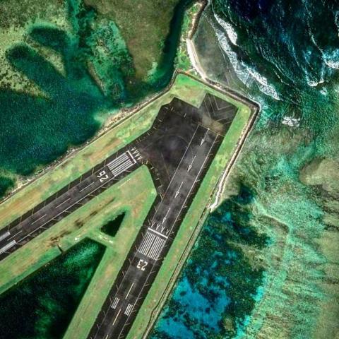 Pago Pago International Airport in American Samoa.