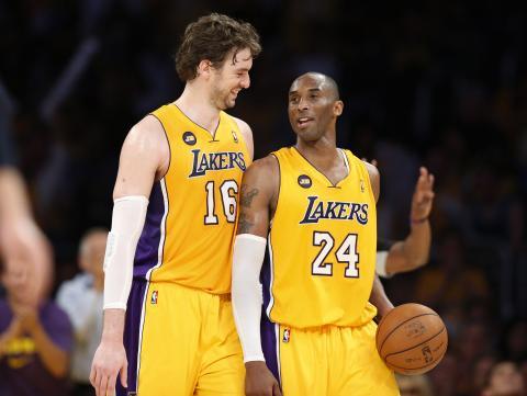 Pau Gasol y Kobe Bryant.