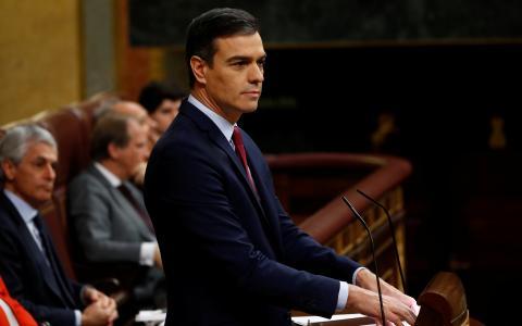 Pedro Sánchez, en la segunda votación de investidura.
