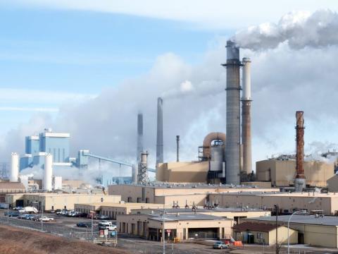 Una planta de gasificación de carbón en Beulah, Dakota del Norte (EE.UU.), que produce gas natural.