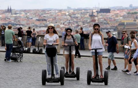 Turistas en Praga