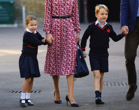 La princesa Charlotte y el príncipe George.