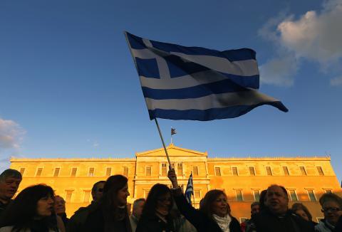 Protestas en Grecia contra las medidas de austeridad impuestas.