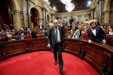 Quim Torra abandona su escaño en el Parlament.