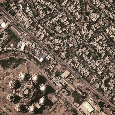 Al Rahman Mosque in Baghdad.
