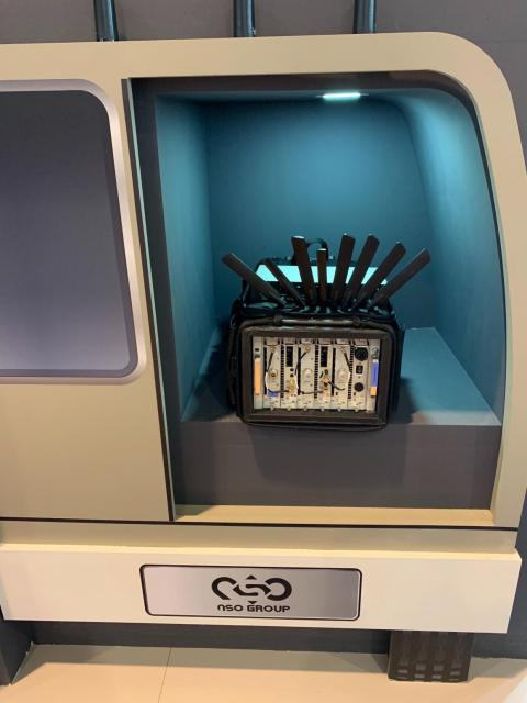 This is a rare photo of the smartphone-hacking device sold by the NSO Group, the billion-dollar Israeli spyware company accused of helping hack Jeff Bezos