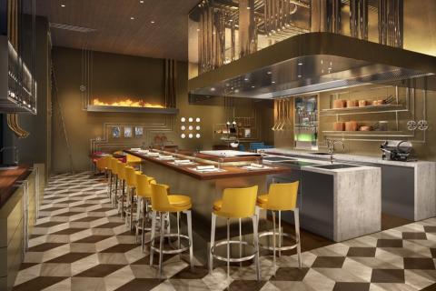 Imagen del futuro restaurante de Louis Vuitton.