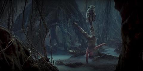 Rey canaliza el entrenamiento de Luke en la nueva película.